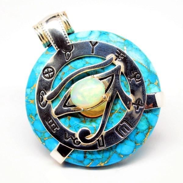 Turquoise Opal Eye of Horus