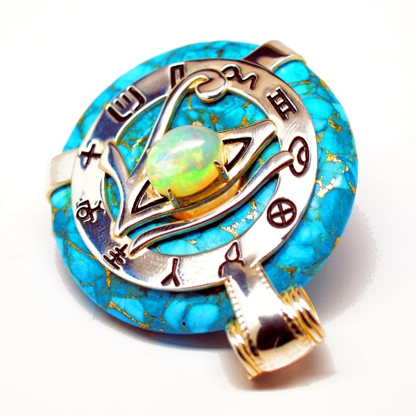 Turquoise Opal Eye of Horus