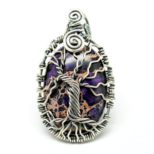 Tree of Romance Purple Imperial Jasper Amulet